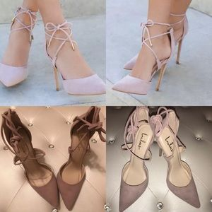 Lulus Dani Dusty Rose Ankle Lace Up Heels 8M